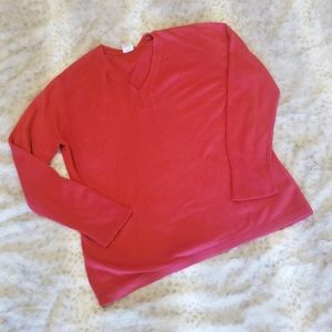 JMS | Red V-Neck Pullover Sweater